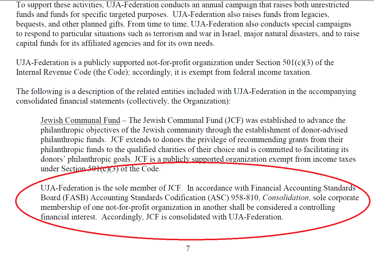UJA-Federation 2014 Audited Financial Statement